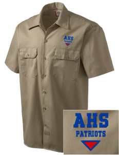 American High School Patriots Embroidered Dickies Men's Short-Sleeve Workshirt