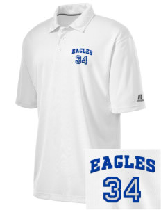 College of Southern Nevada High School Eagles Embroidered Russell Coaches Core Polo Shirt