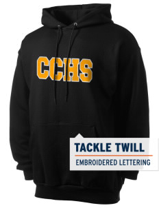 Colquitt County High School Packers Men's 7.8 oz Lightweight Hooded Sweatshirt with Tackle Twill