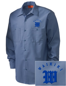 Waikiki Elementary School Waikiki Warriors Embroidered Men's Industrial Work Shirt - Regular