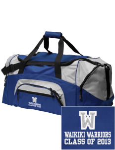 Waikiki Elementary School Waikiki Warriors Embroidered Colorblock Duffel Bag
