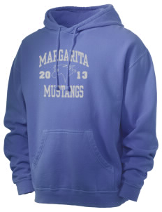 Margarita Middle School Mustangs Men's 80/20 Pigment Dyed Hooded Sweatshirt