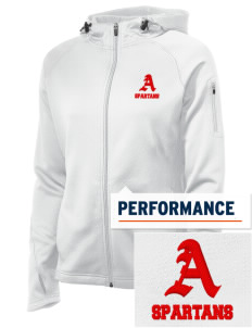 Arcade Middle School Spartans Embroidered Women's Tech Fleece Full-Zip Hooded Jacket