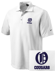 Oakview Community School Cougars Embroidered Nike Men's Dri-FIT Pique II Golf Polo