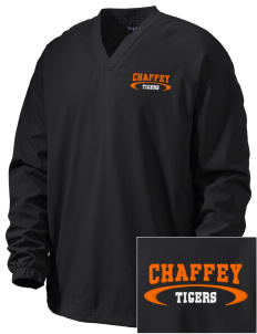 Chaffey High School Tigers Embroidered Men's V-Neck Raglan Wind Shirt