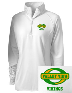 Valley View High School Vikings Embroidered Ladies Stretched Half-Zip Pullover