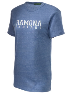 Ramona Junior High School Indians Embroidered Alternative Unisex Eco Heather T-Shirt