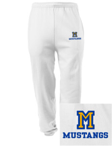 Milor Continuation Senior High School Mustangs Embroidered Men's Sweatpants with Pockets