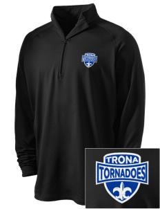 Trona Elementary School Tornadoes Embroidered Men's Stretched Half Zip Pullover
