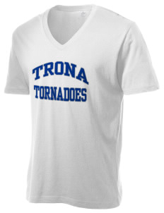 Trona Elementary School Tornadoes Alternative Men's 3.7 oz Basic V-Neck T-Shirt