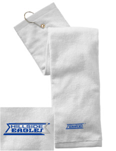Hillside High School Eagles Embroidered Hand Towel with Grommet