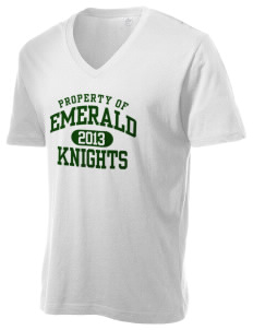 Emerald Middle School Knights Alternative Men's 3.7 oz Basic V-Neck T-Shirt