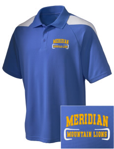 Meridian Elementary School Mountain Lions Embroidered Holloway Men's Frequency Performance Pique Polo