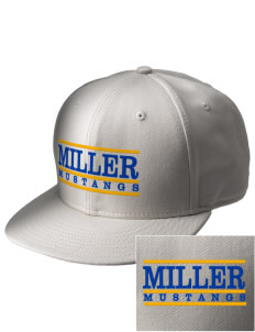 Miller Elementary School Mustangs  Embroidered New Era Flat Bill Snapback Cap