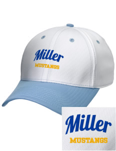 Miller Elementary School Mustangs Embroidered New Era Snapback Performance Mesh Contrast Bill Cap