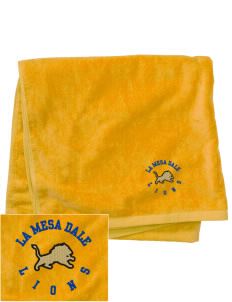 La Mesa Dale Elementary School Lions Embroidered Beach Towel