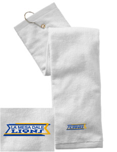 La Mesa Dale Elementary School Lions Embroidered Hand Towel with Grommet