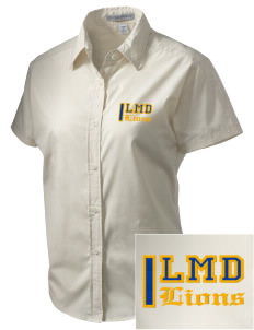 La Mesa Dale Elementary School Lions Embroidered Women's Short Sleeve Easy Care, Soil Resistant Shirt