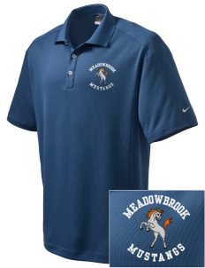Meadowbrook Middle School Mustangs Embroidered Nike Men's Dri-Fit Classic Polo