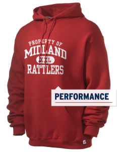 Midland Elementary School Rattlers Russell Men's Dri-Power Hooded Sweatshirt