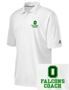 Olive Elementary School Falcons Embroidered Russell Coaches Core Polo Shirt