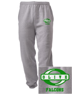 Olive Elementary School Falcons Embroidered Men's Sweatpants with Pockets