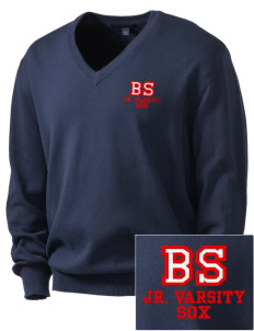 Bay Sox Sox Embroidered Men's V-Neck Sweater
