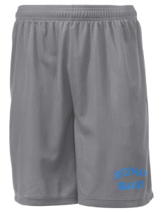"Sherman Elementary School Sharks Men's Mesh Shorts, 7-1/2"" Inseam"