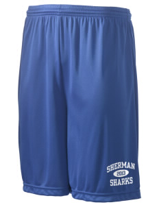 "Sherman Elementary School Sharks Men's Competitor Short, 9"" Inseam"