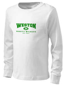 Weston Elementary School Wildcats  Kid's Long Sleeve T-Shirt