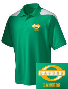 Laguna Middle School Lancers Embroidered Holloway Men's Frequency Performance Pique Polo
