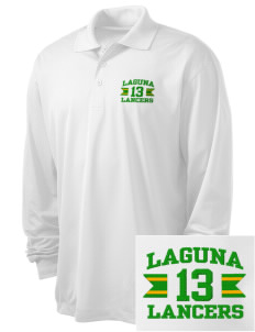 Laguna Middle School Lancers Embroidered Men's Long Sleeve Micropique Sport-Wick Sport Shirt