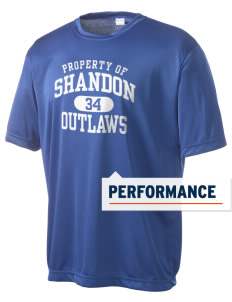 Shandon Senior High School Outlaws Men's Competitor Performance T-Shirt