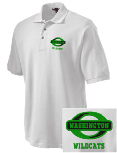 Washington Elementary School Wildcats Embroidered Tall Men's Pique Polo