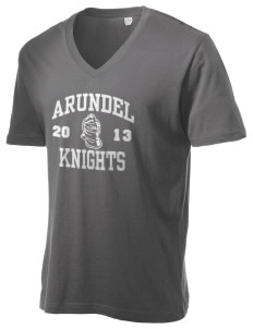 Arundel Elementary School Knights Alternative Men's 3.7 oz Basic V-Neck T-Shirt