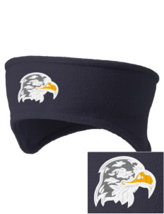 Hillside Elementary School Hawks Embroidered Fleece Headband