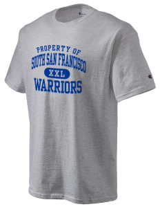 South San Francisco High School Warriors Champion Men's Tagless T-Shirt