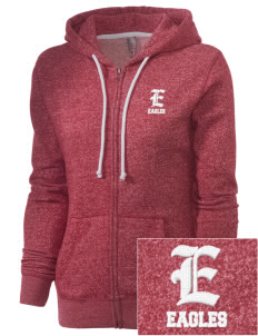 Arthur Hapgood Elementary School Eagles Embroidered Women's Marled Full-Zip Hooded Sweatshirt