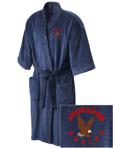 Arthur Hapgood Elementary School Eagles Embroidered Terry Velour Robe