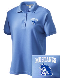 Leonora Fillmore Elementary School Mustangs Women's Embroidered Silk Touch Polo