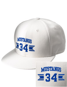 Leonora Fillmore Elementary School Mustangs  Embroidered New Era Flat Bill Snapback Cap