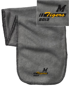 Morrill Middle School Tigers Embroidered Fleece Scarf