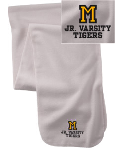 Morrill Middle School Tigers  Embroidered Extra Long Fleece Scarf