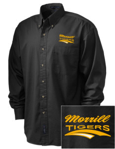 Morrill Middle School Tigers Embroidered Men's Twill Shirt