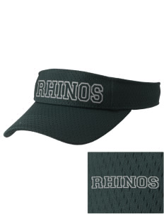 Samuel Curtis Rogers Middle School Rhinos Embroidered Woven Cotton Visor