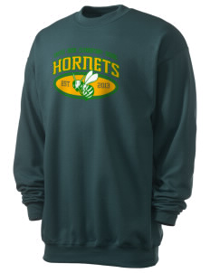 Castle Rock Elementary School Hornets Men's 7.8 oz Lightweight Crewneck Sweatshirt