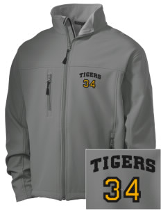 Platina Elementary School Tigers Embroidered Men's Soft Shell Jacket