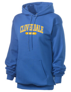 Cloverdale High School Eagles Unisex 7.8 oz Lightweight Hooded Sweatshirt