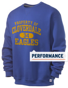 Cloverdale High School Eagles  Russell Men's Dri-Power Crewneck Sweatshirt