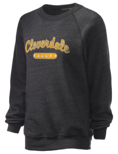 Cloverdale High School Eagles Unisex Alternative Eco-Fleece Raglan Sweatshirt with Distressed Applique